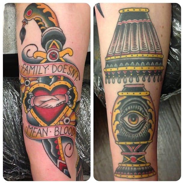Lamp Tattoo by Johann Ingemar