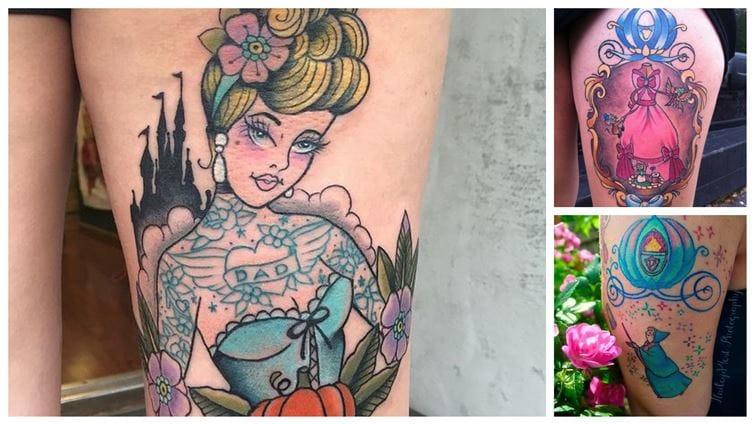 10 Lovely & Dreamy Cinderella Tattoos