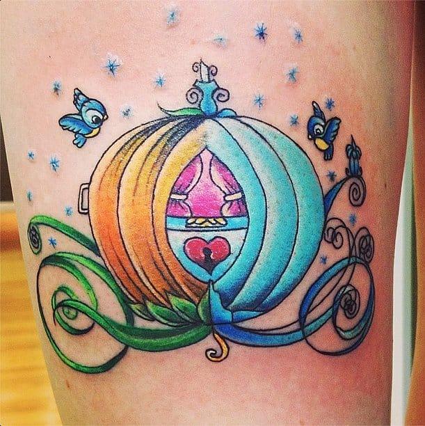 Magical carriage tattoo