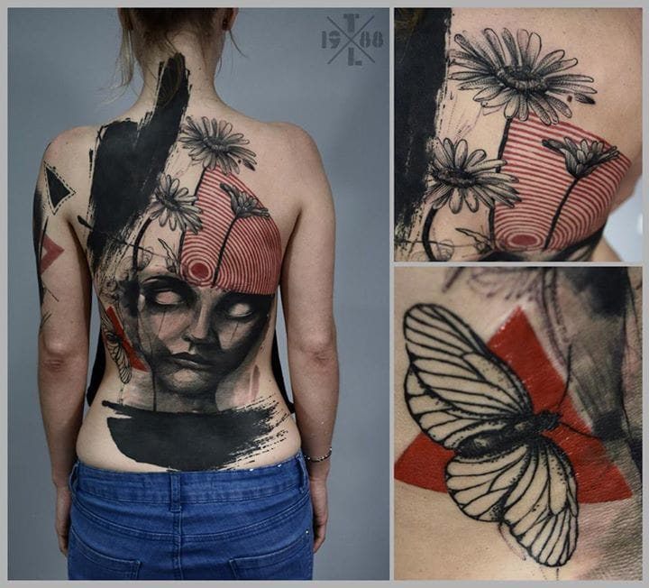 Large scale tattoo: conceptual, strong, minimal & bold.