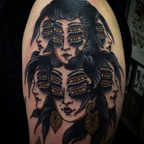 Awesome tattoo by Bailey, Sacred Electric Tattoo.