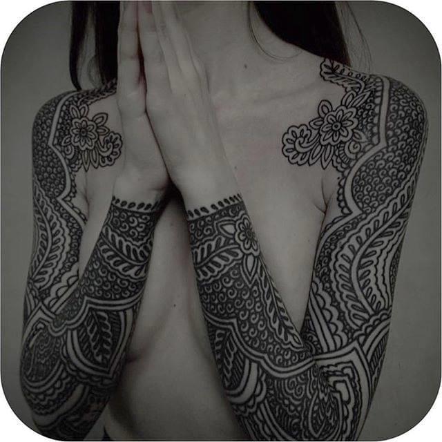 Awesome tattoo sleeve #GuyLe