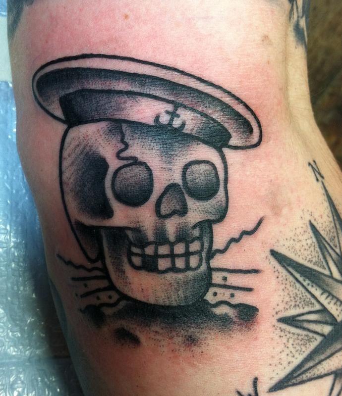 Sailor Skull Tattoo by Adam Lauricella