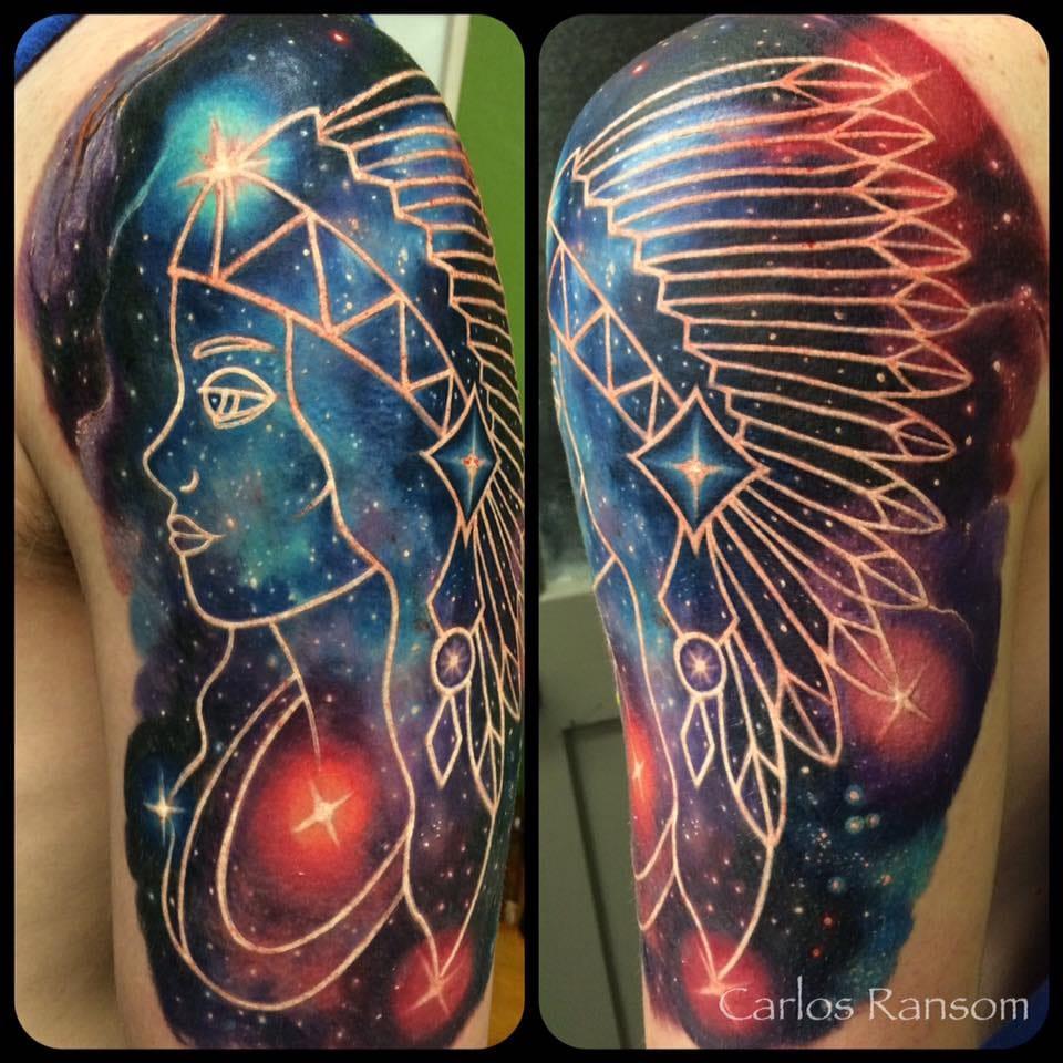 Amazing Cosmic Tattoos By Carlos Ransom