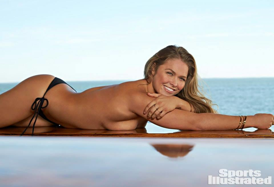 Is That Ronda Rousey's Body-Painted Butt In Sports Illustrated?!