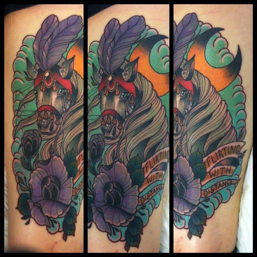 Tattoo by Torie Larson. #torielarson #horsetattoo #horse