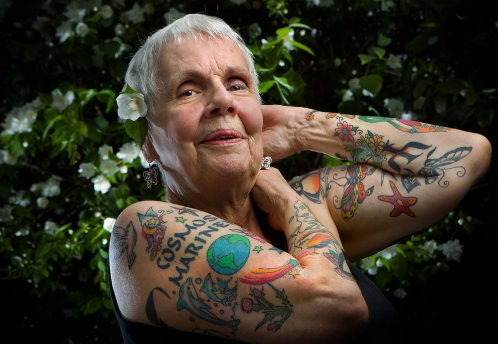 Chicago resident Helen Lambin started getting tattooed in her 70's.
