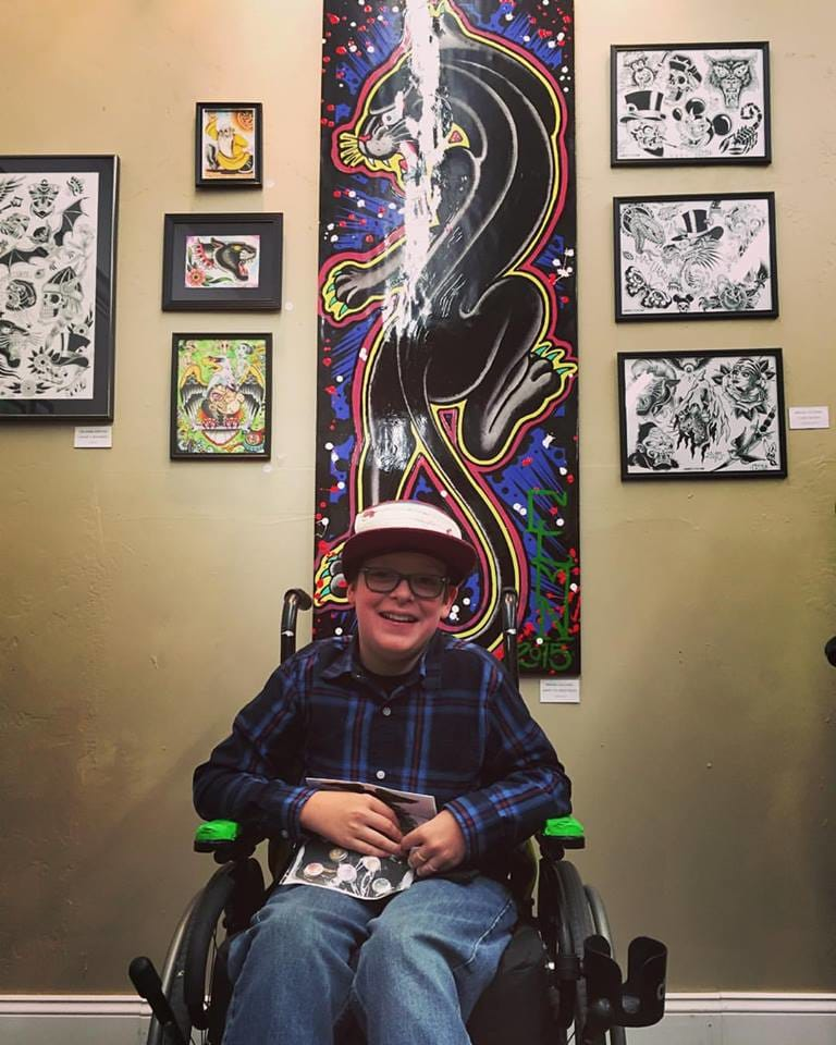 11-Year-Old Teams Up With Tattoo Artists For Cerebral Palsy Foundation
