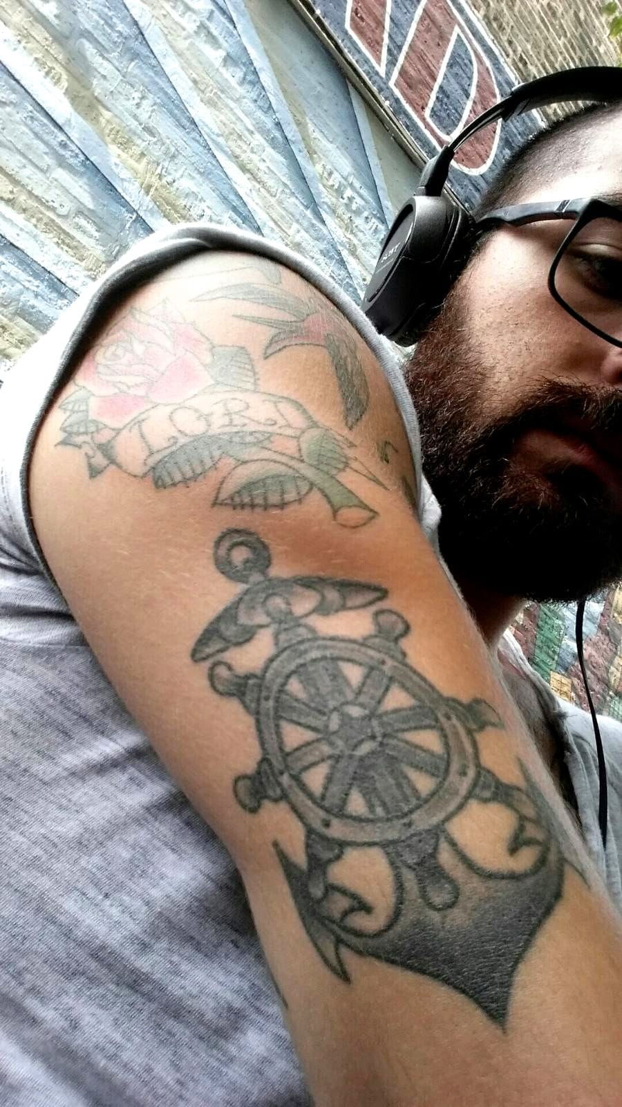 Hebrews 6:19 anchor done at Old Town Tatu in Chicago Illinois. The bold will hold.