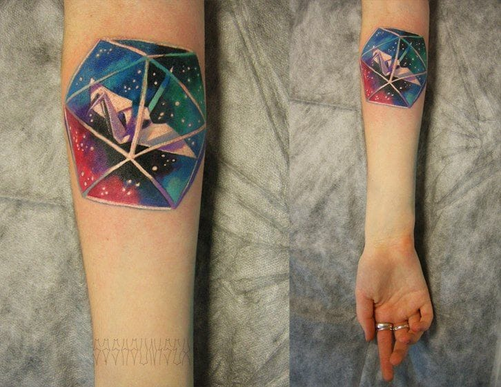 10 Pretty Paper Crane Tattoos