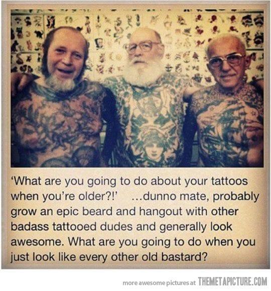Aging tattoo