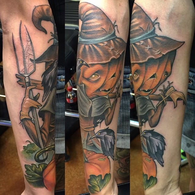 Scarecrow Tattoo by Scotty Munster