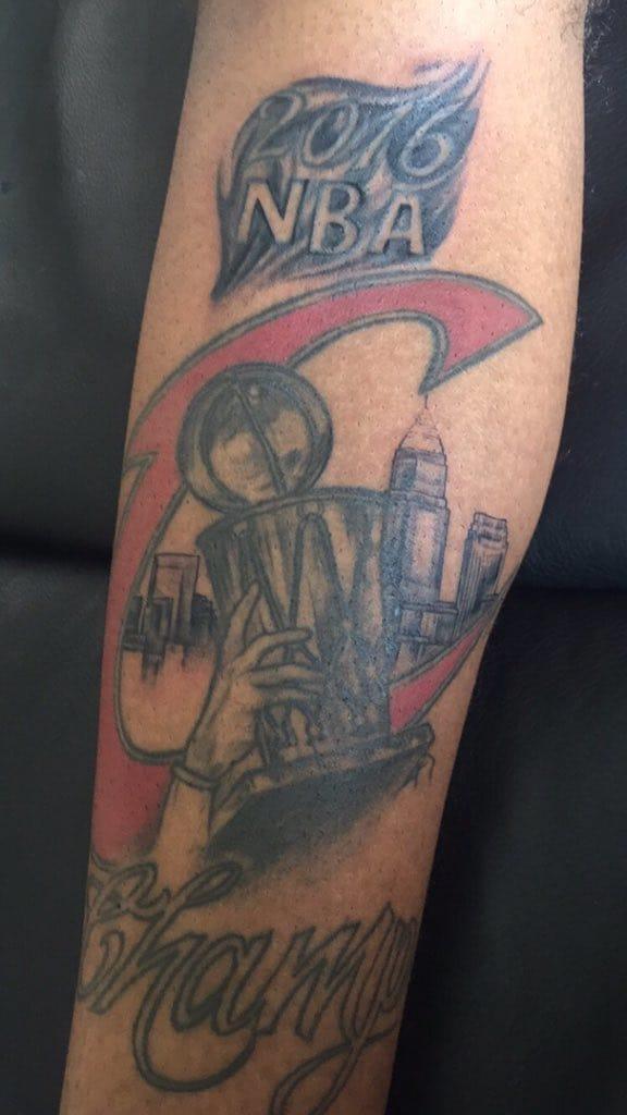 Cavaliers Fan Has '2015 NBA Champs' Tattoo Updated!!