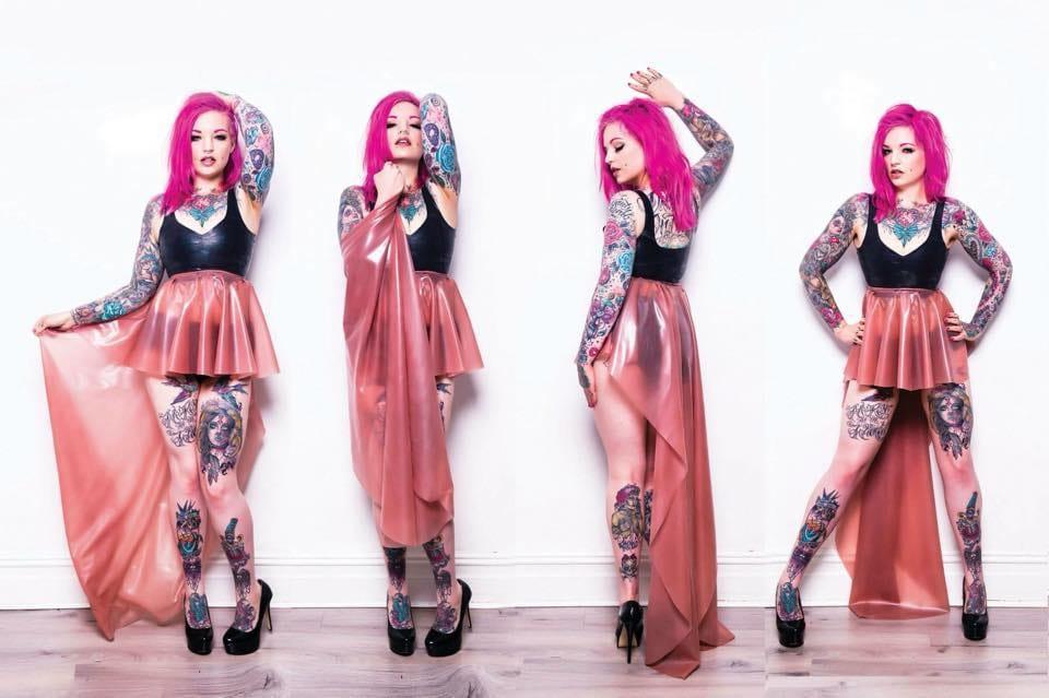 Pretty In Pink: Meet Tattoo Model Mz Bones