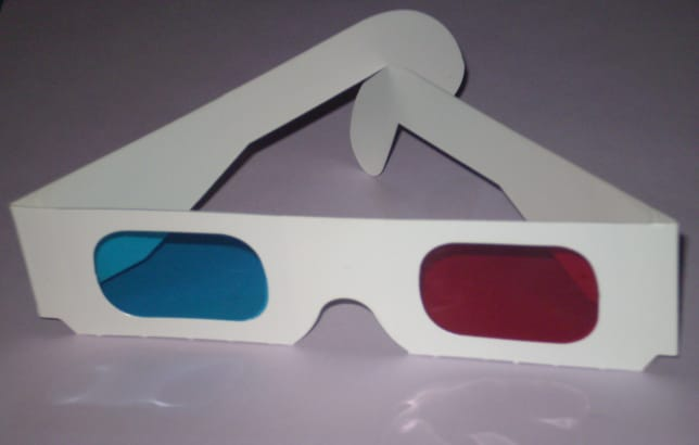 3D glasses image from Wikipedia / GFDL.