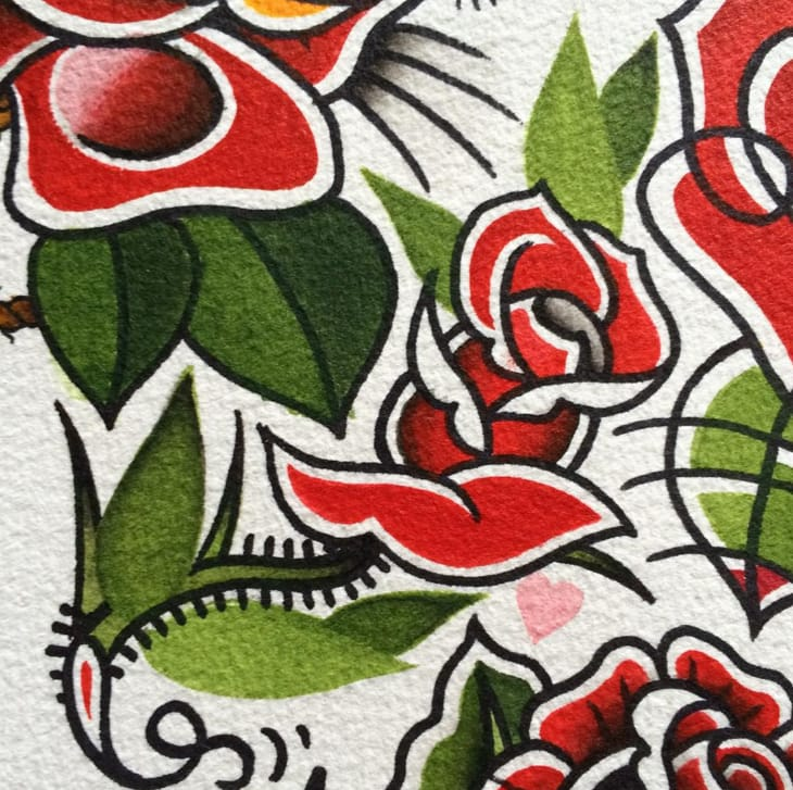 Roses tattoo flash.
