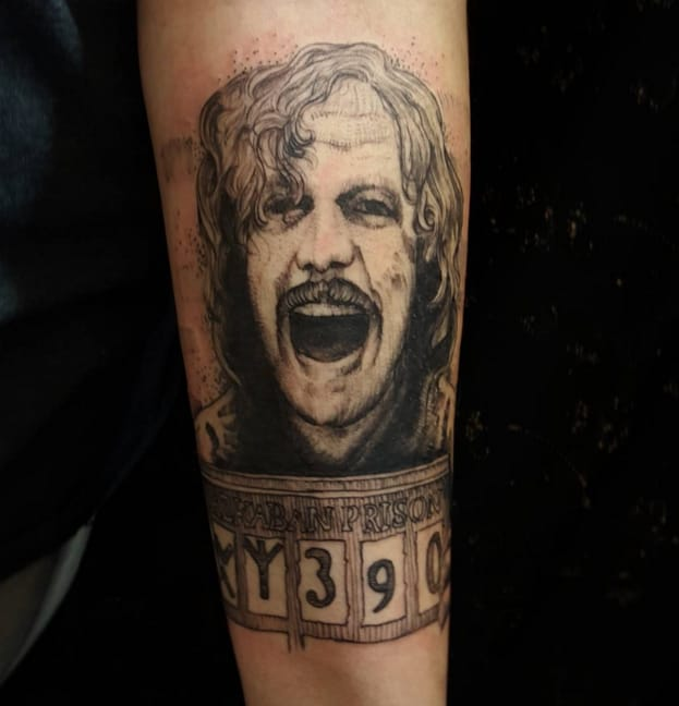 Sirius Black tattoo by Instagram @skullytattoos.