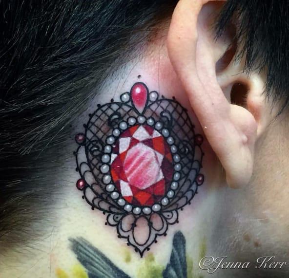 Stunning tattoo by Jenna Kerr (Instagram @ennakerrtattoo).