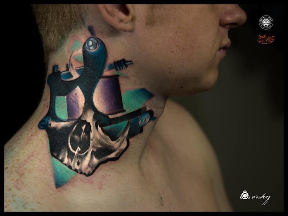 Máquina de tatuagem estilizada! PERFEITA!