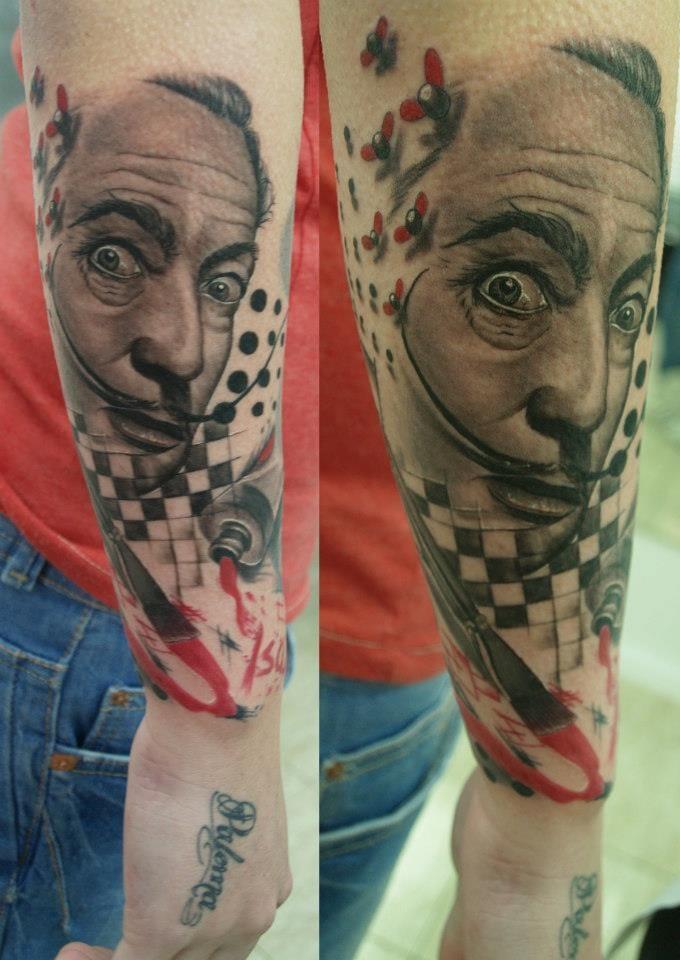 Salvador Dali, provavelmente o artista mais tatuado da história!