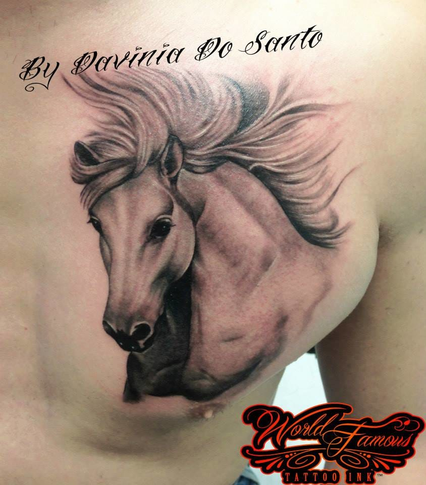 Maravilhosa tatuagem no peito!