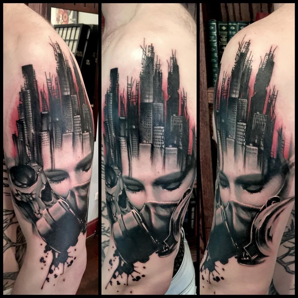 Epic abstract design in this tattoo