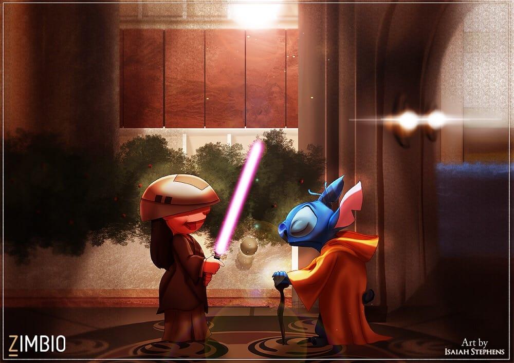 Disney Meets Star Wars: Art By Isaiah Stephens