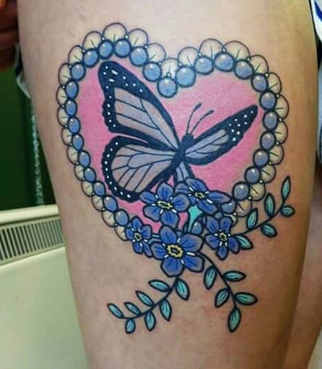 Butterfly tattoo by Bex Fisher, Midlands, UK.