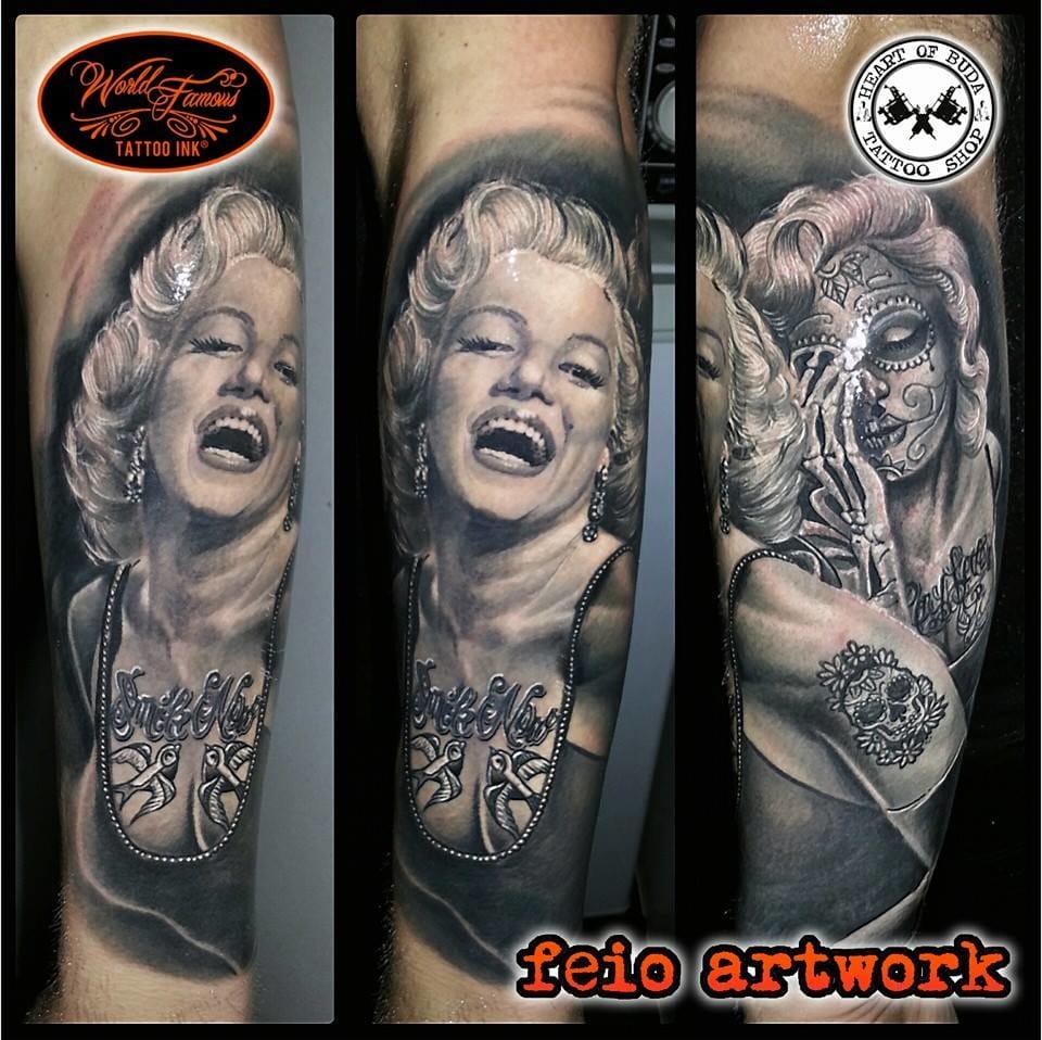 Feio Artwork Em 15 Magníficas Tatuagens Preto E Cinza