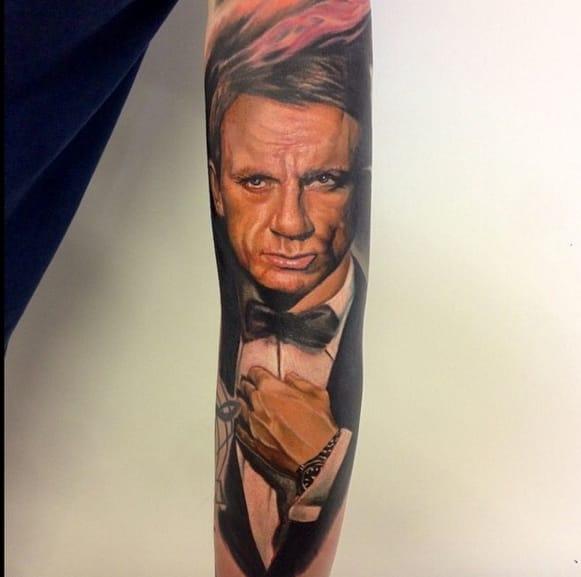 Realistic Daniel Craig as 007 by Endre, London, UK.