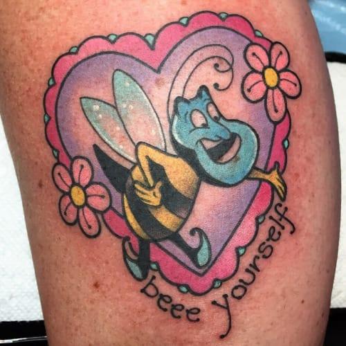 Genie (from Disney's Aladdin) tattoo by Alex Strangler