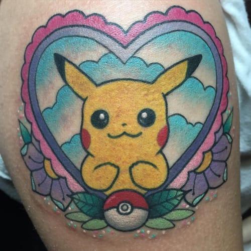 Pikachu tattoo by Alex Strangler