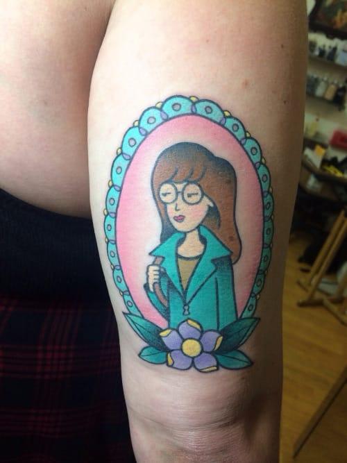 Daria tattoo by Alex Strangler