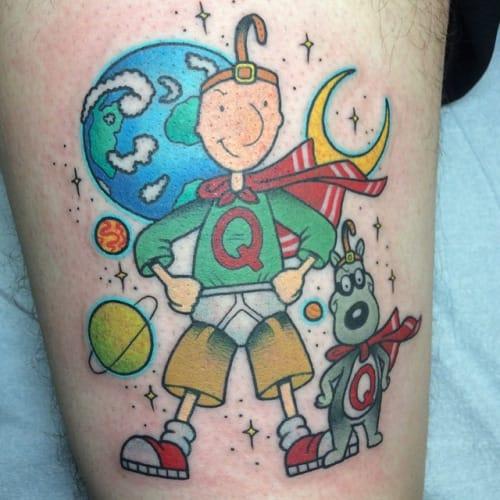 Doug as Quailman tattoo by Alex Strangler