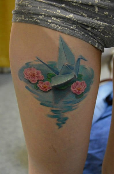 Realistic 3D tattoo by Andrey Lelyuk.