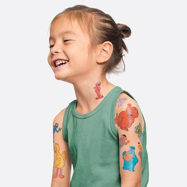 Sesame tattoos are a kids favorite...maybe she will get a few reals ones when she's grown up?