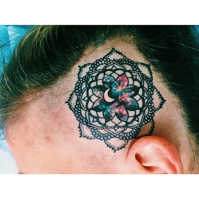Galaxy Mandala tattoo by Lauren Winzer