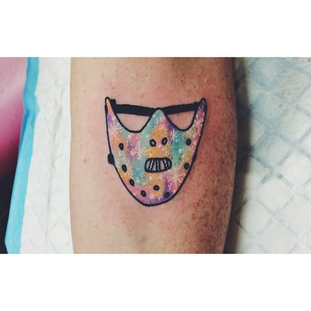 Galaxy Hannibal Mask tattoo by Lauren Winzer