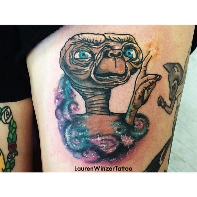 Galaxy E.T. tattoo by Lauren Winzer