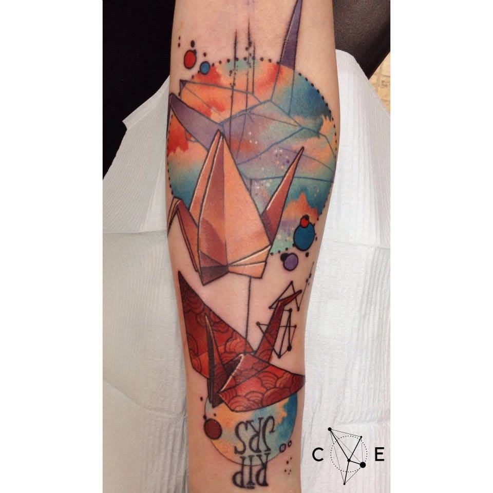 Bold and great tattoo by Cody Eich.