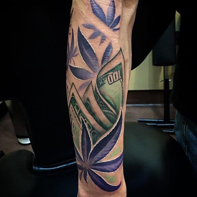 16 Stoned Weed Tattoos | Tattoodo