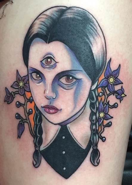 Wednesday Addams Tattoos To Celebrate Weirdos
