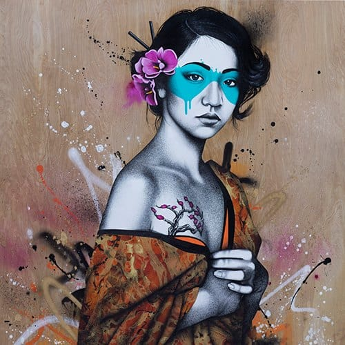 Japanese style street art