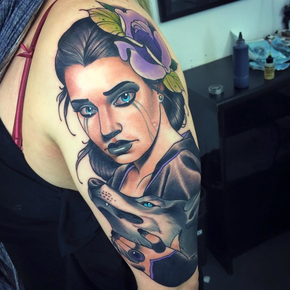Gorgeous neo-traditional lady.