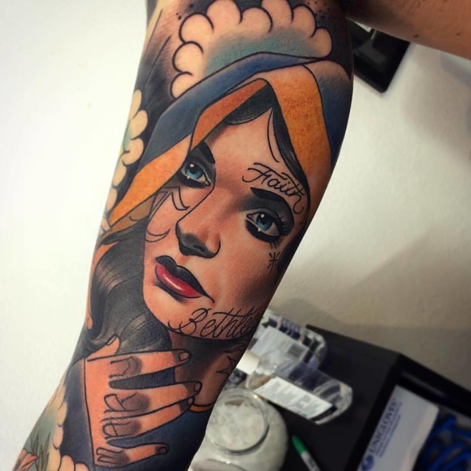 Tattooed Virgin Mary?