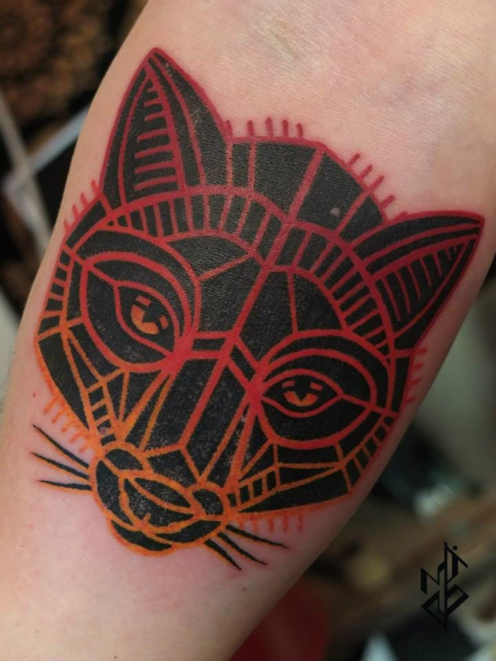 Geometric fox head.