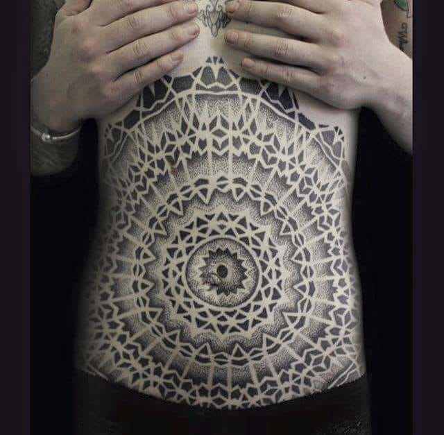 Jaw-dropping stomach piece by Josh Fisher...