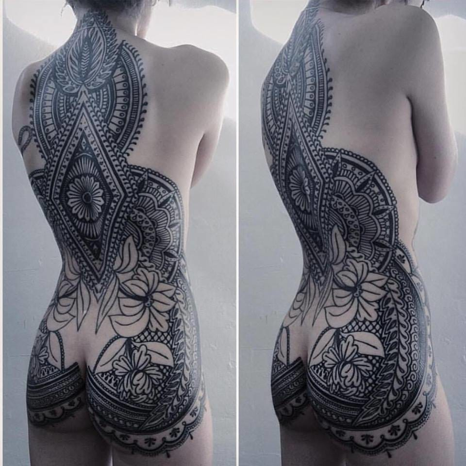 Breath-taking massive ornamental style tattoo by Josh Stephens!