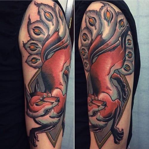 Kitsune Tattoo by Alex Dorfler