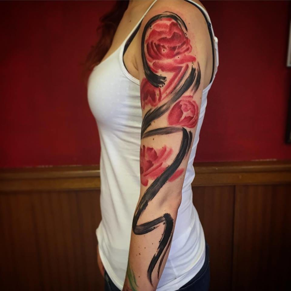 Graphic Watercolor Realism: The Tattoos of Will Gee